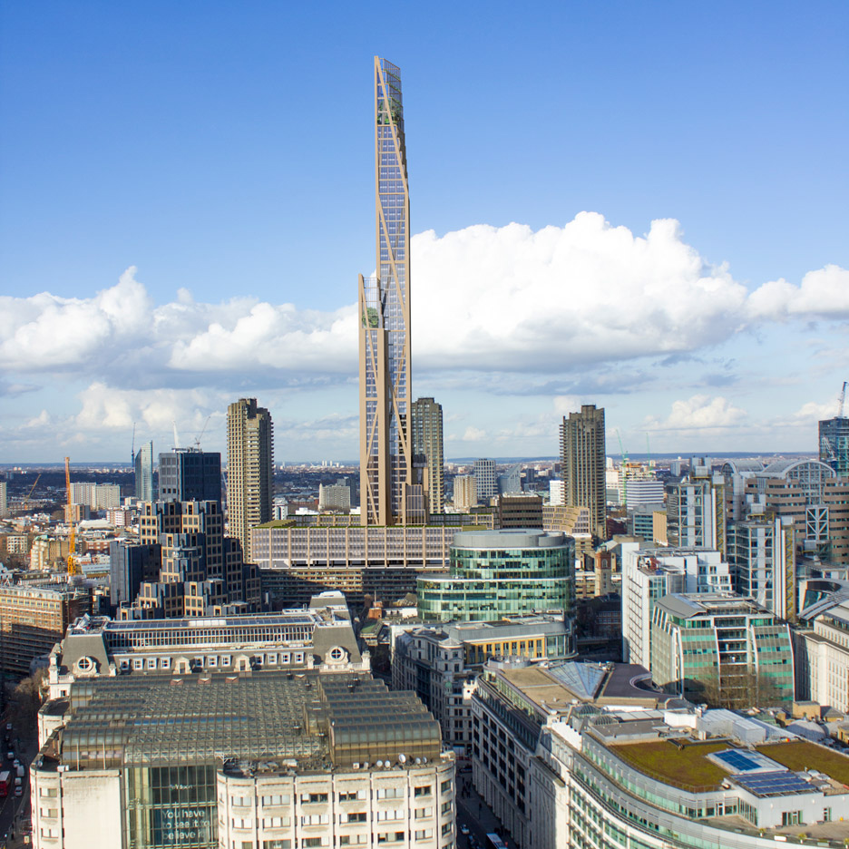 Wooden skyscraper proposed for London by PLP Architecture and University of Cambridge