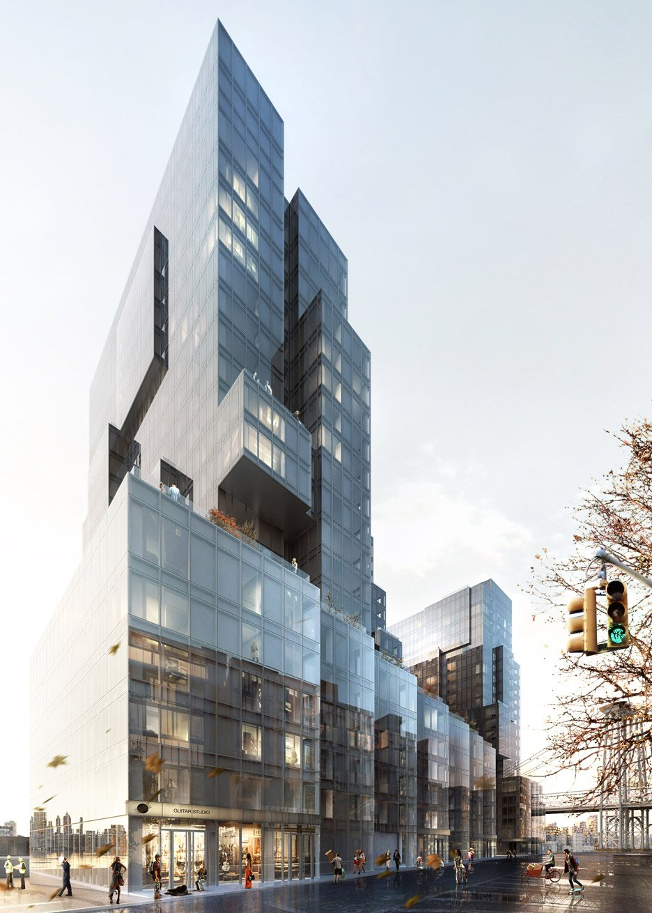 ODA designs trio of deconstructed boxy towers for Brooklyn