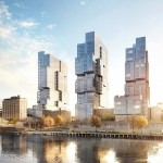 ODA designs trio of irregularly stacked towers for Williamsburg waterfront