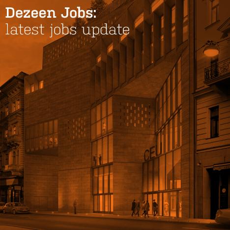 Dezeen jobs latest jobs update