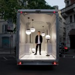 Lee Broom's Salone del Automobile delivery van arrives in Milan