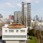Thatched observatory installed on roof of 1930s Sonneveld House in Rotterdam