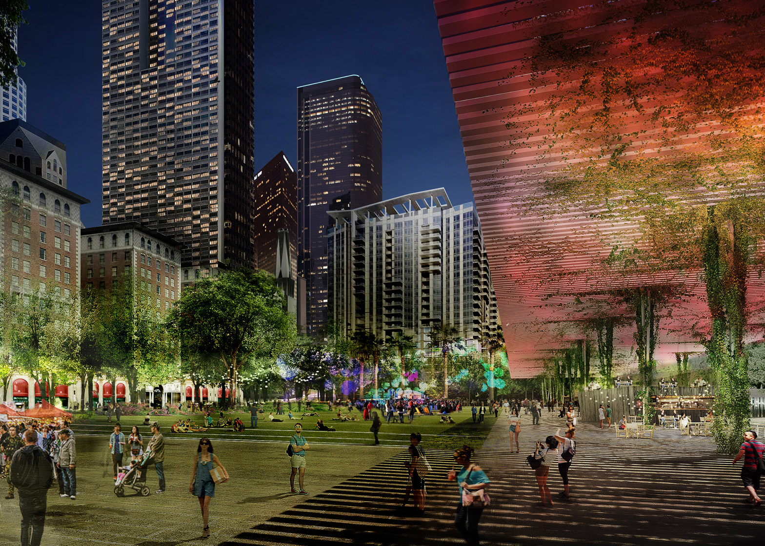 Agence Ter and Team Pershing square renovation proposal architecture news Los Angeles LA USA