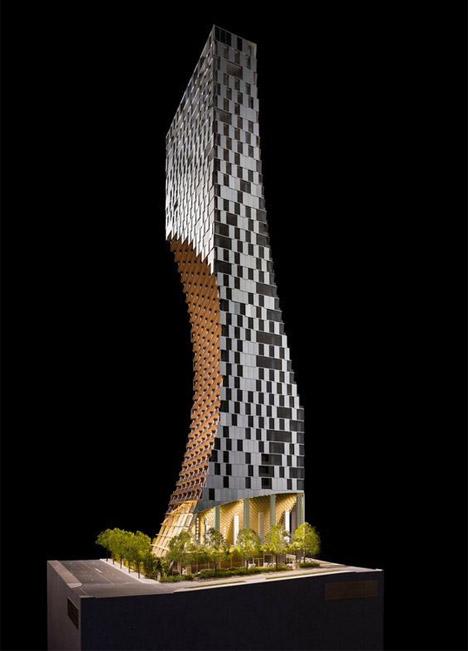 Kengo Kuma's Alberni tower in Vancouver