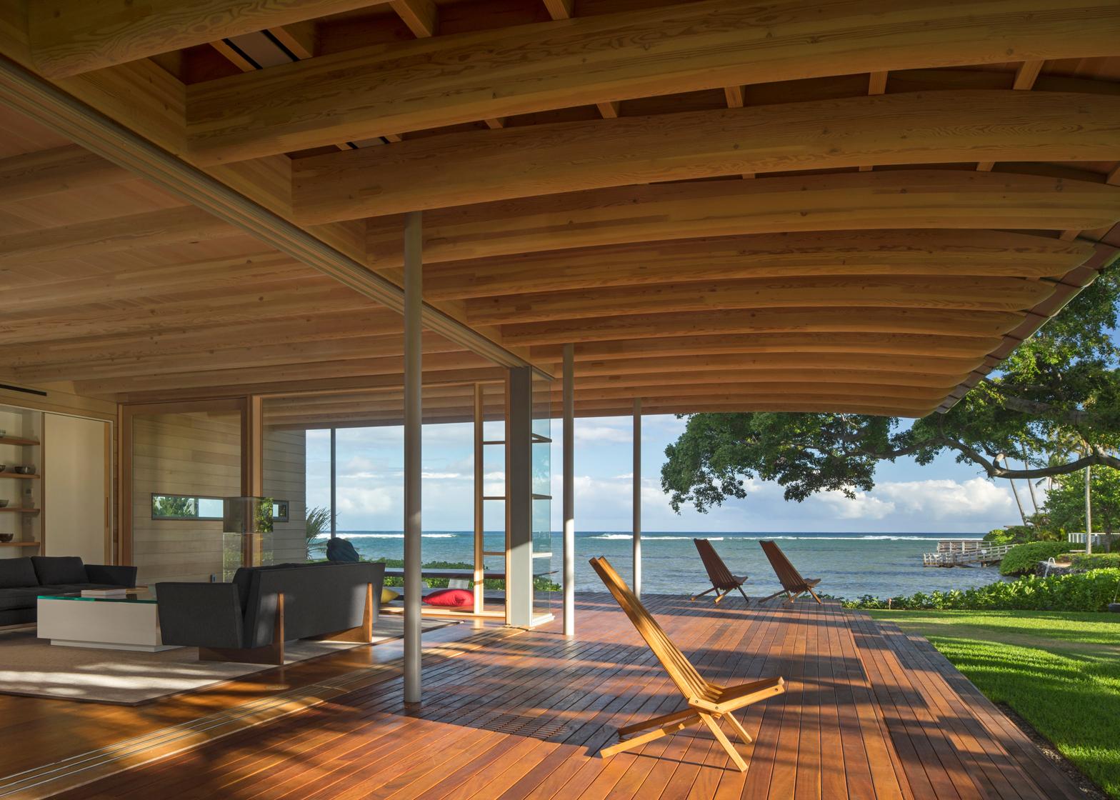 Island Residence; Honolulu, Hawaii by Bohlin Cywinski Jackson. Photography by Nic Lehoux
