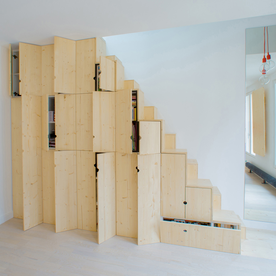 Staircase made of cupboards by Schemaa