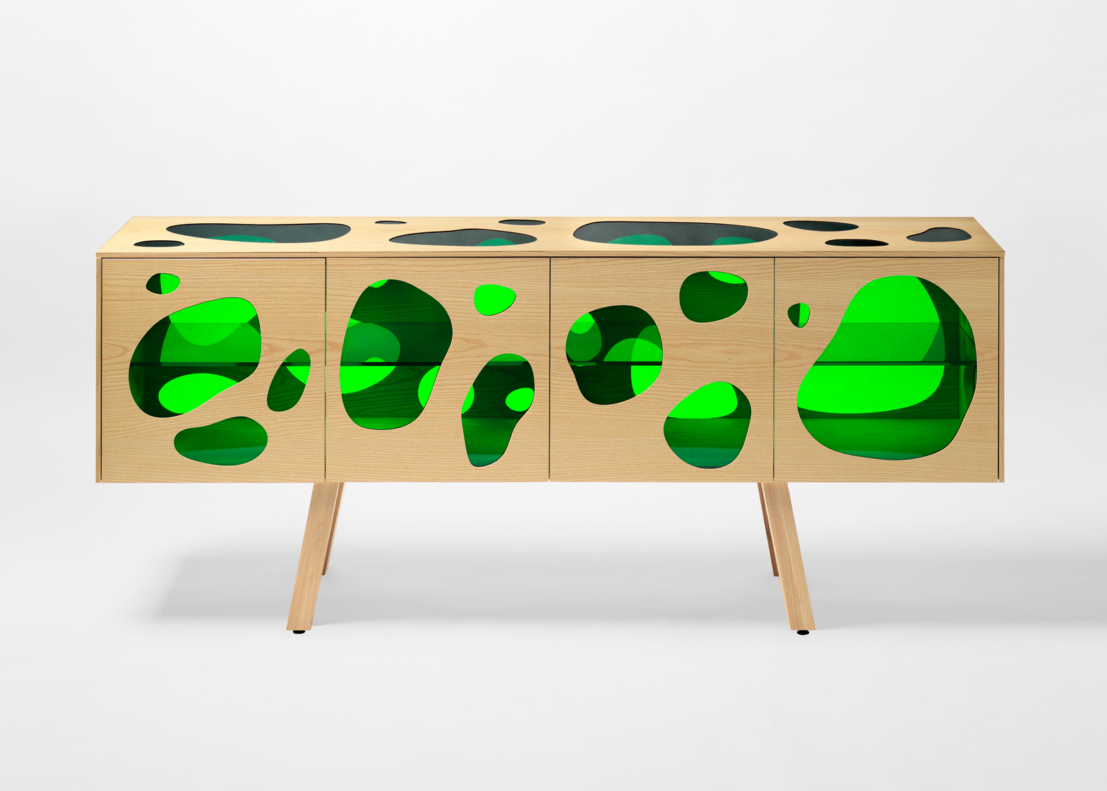 Campana brothers' Aquário cabinet features coloured glass