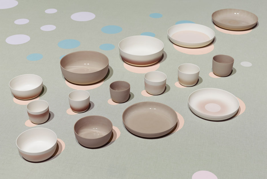 Kirstie van Noort's collection with Sehyo pottery