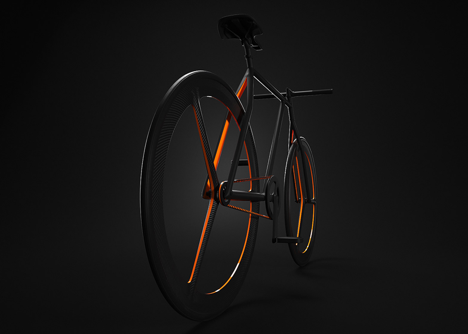 """Ion Lucin's Baik bicycle has vivid orange accents and """"as few lines as possible"""""""