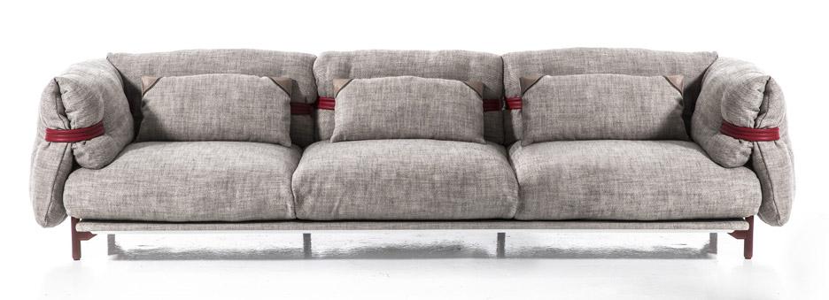 Patricia Urquiola belt range of furniture for Moroso at Milan design week 2016