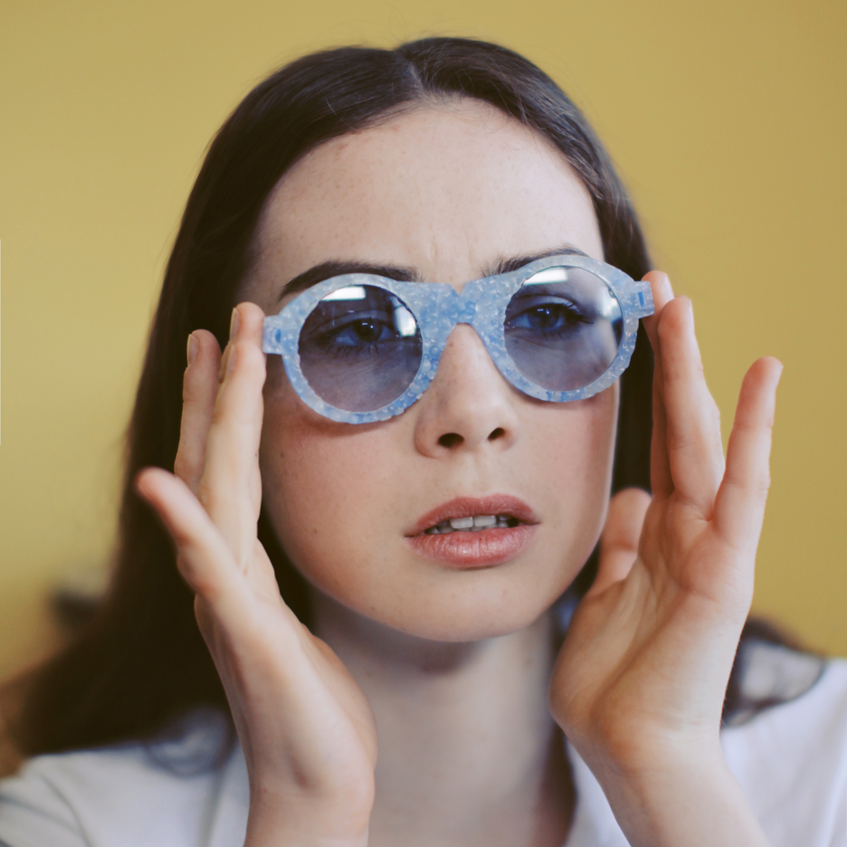 Crafting Plastics! designs translucent bioplastic sunglasses