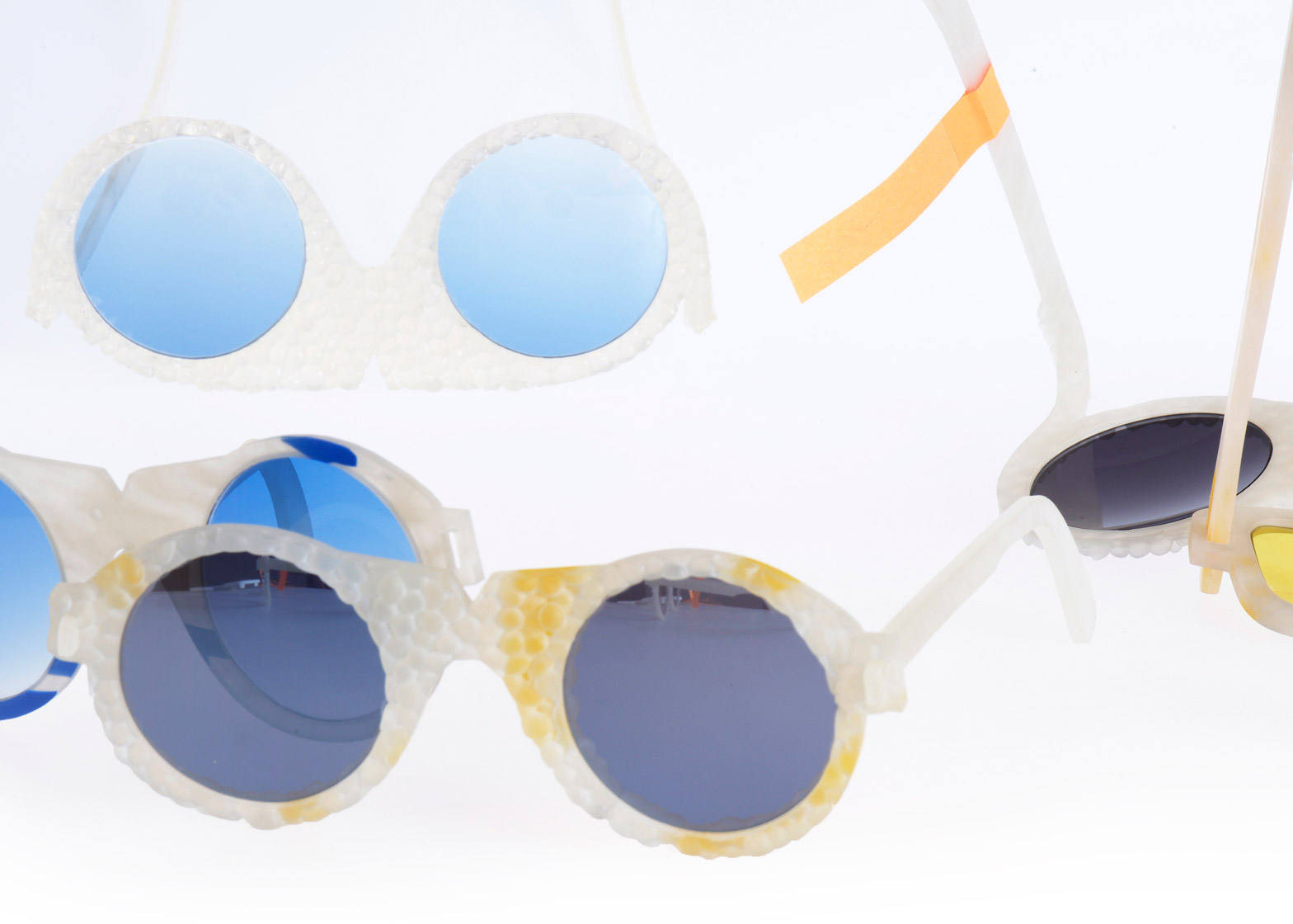 109160a6172 Crafting Plastics designs translucent bioplastic sunglasses