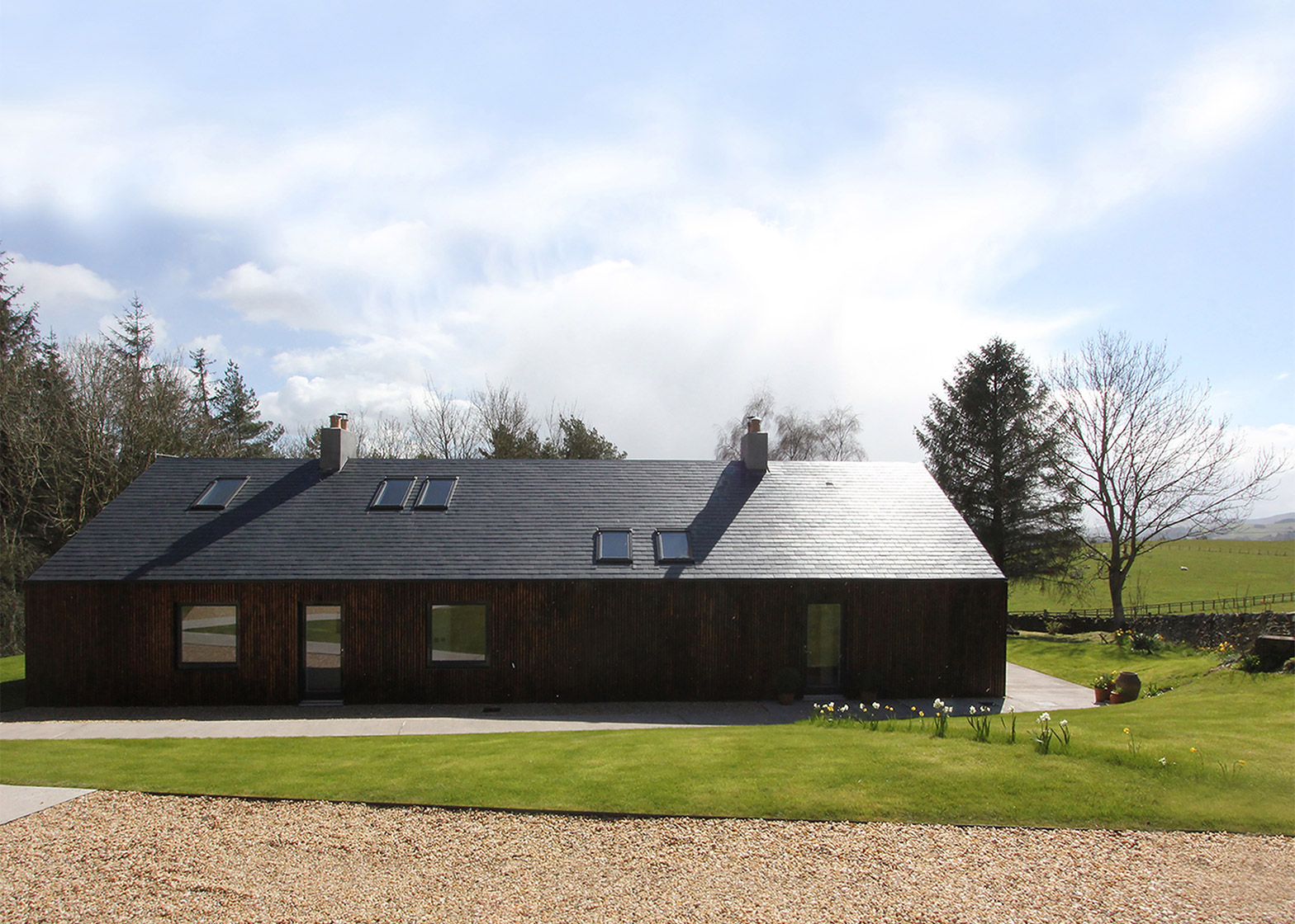Blakeburn Cottage by A449 Architects in Roxburghshire in Scotland