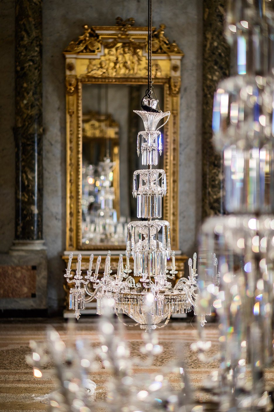 New Lasvit restores crystal chandeliers for Milan design week