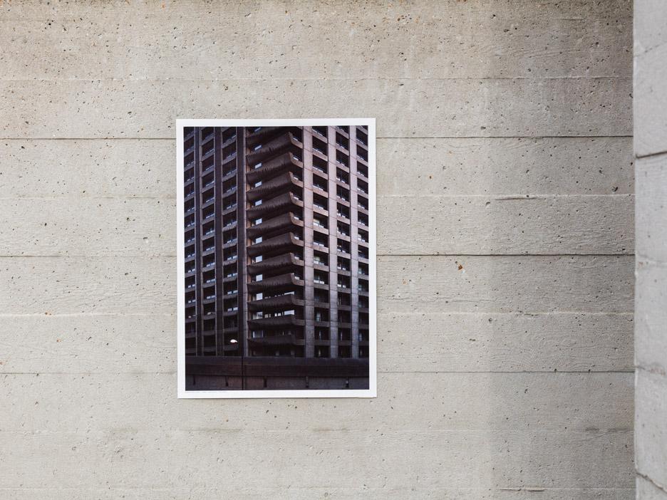 Brutalist buildings print by Studio Esinam
