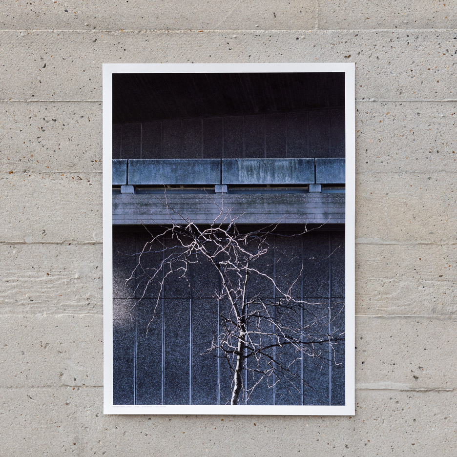 Brutalist buildings print by Studio Esinam