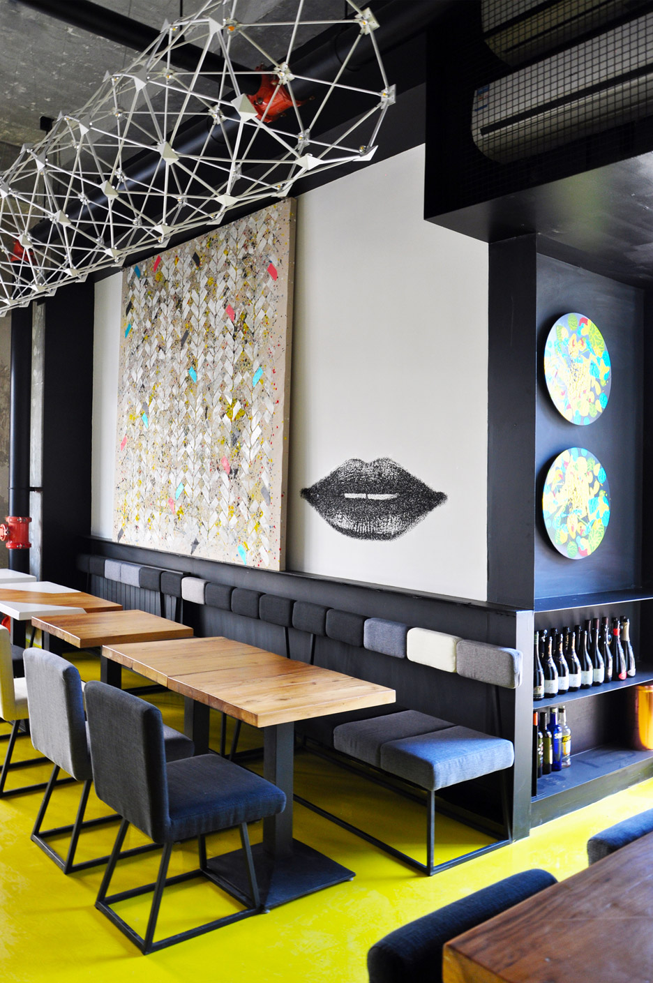 Studio ramoprimo creates chevron patterned brick walls
