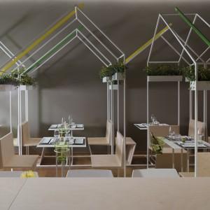 Studio Zero85 bases sushi bar interior on Toyko street markets