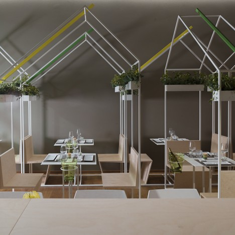 Studio Zero85 recreates outlines of Tokyo market stalls inside Italian sushi bar
