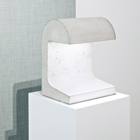 Vincent van Duysen designs concrete LED lamp for Flos