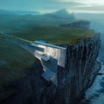 Alex Hogrefe's conceptual retreat cuts into a remote Icelandic clifftop