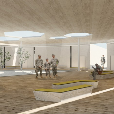Iowa graduate students design military shelters for combat zones to help soldiers feel safer
