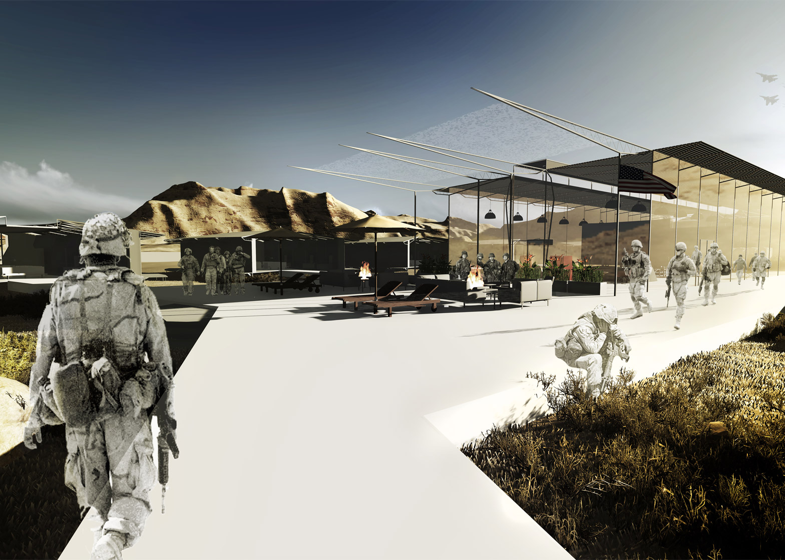 Combat outpost by Iowa arch students