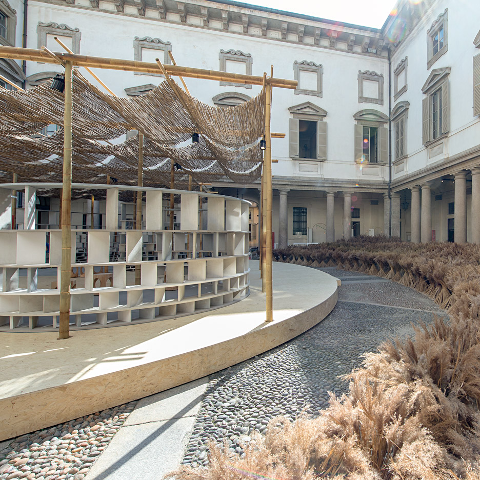 Kéré Architecture creates African-influenced Courtyard Village at Baroque palazzo in Milan
