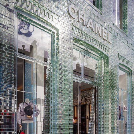 "MVRDV replaces Chanel store's traditional facade with glass bricks that are ""stronger than concrete"""