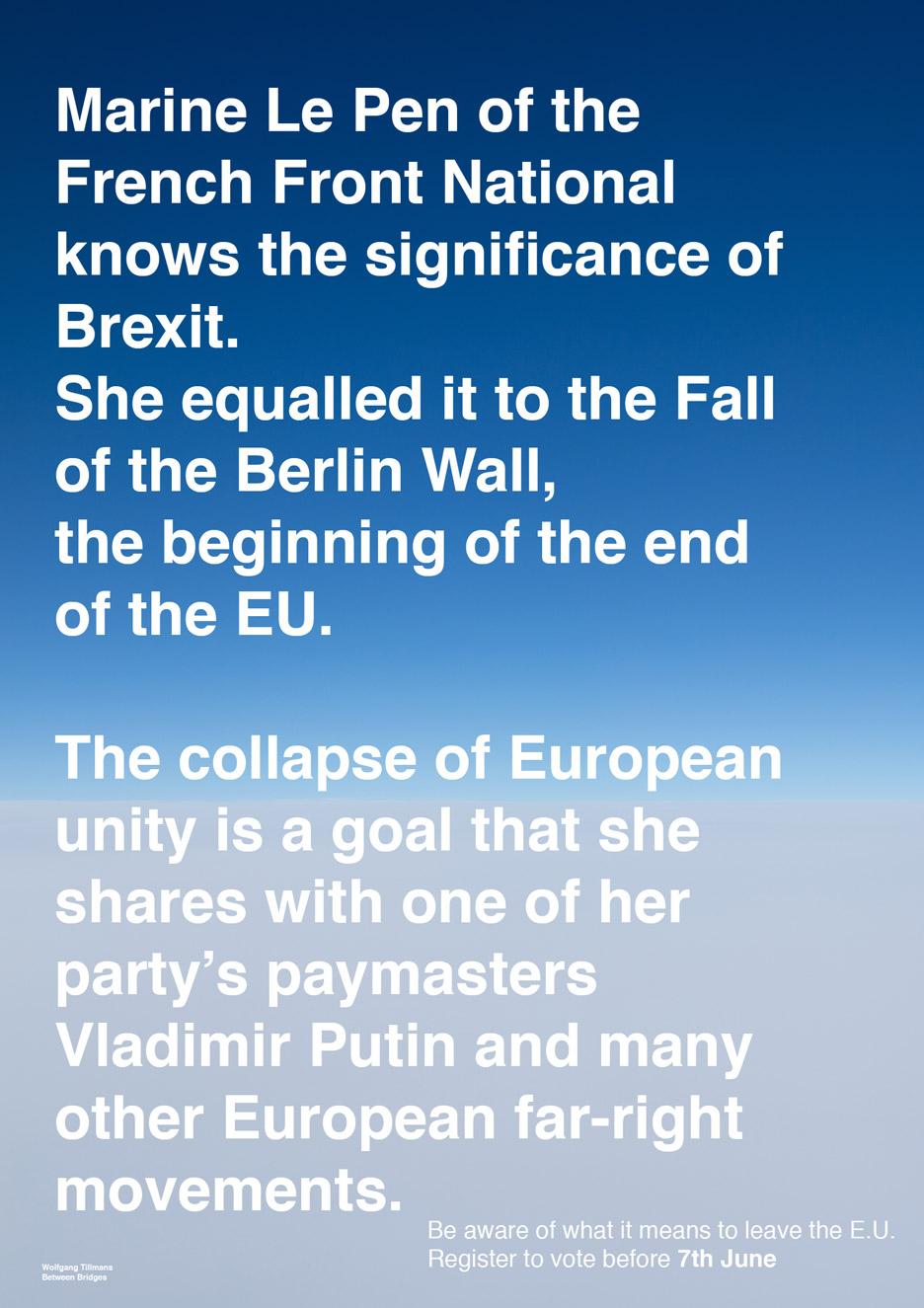 Wolfgang Tillmans EU Referendum posters