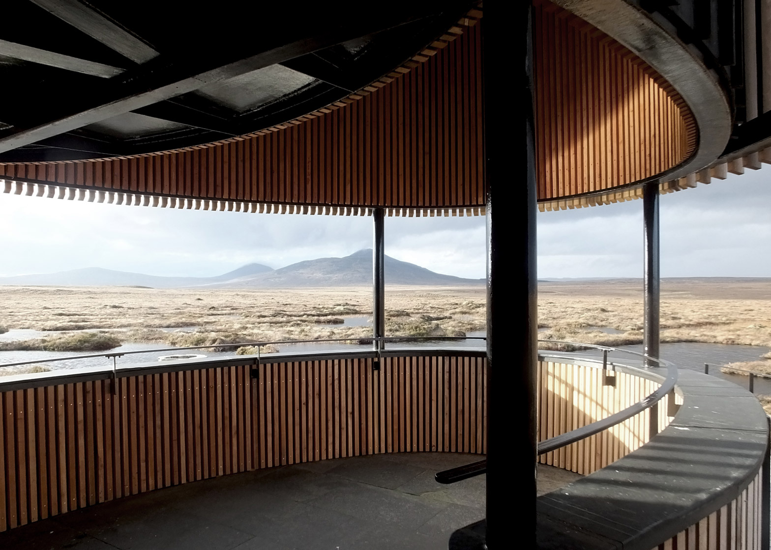 Photograph by Sjoerd Tel Forsinard lookout tower by Icosis Architects in the Scottish Highlands, UK architecture