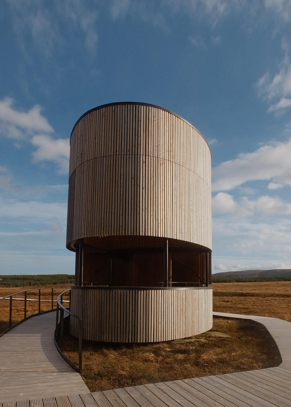 Forsinard lookout tower by Icosis Architects in the Scottish Highlands, UK architecture