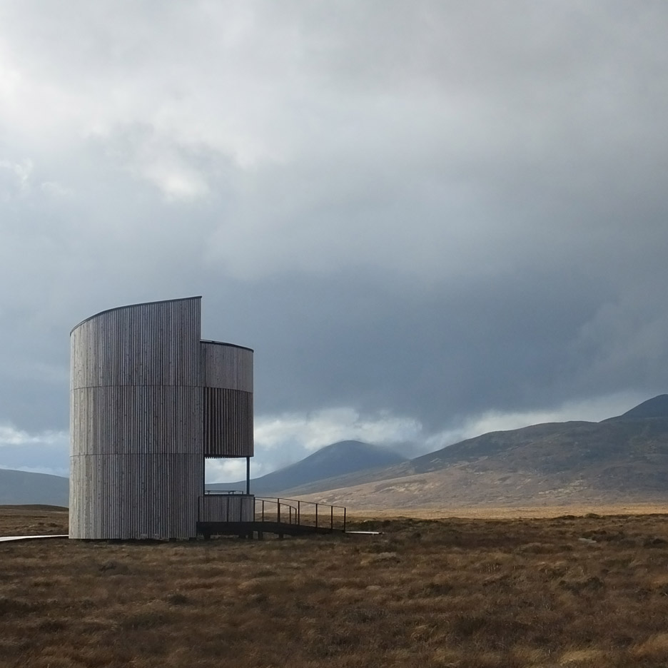 Icosis Architects create stargazing lookout tower in the Scottish highlands