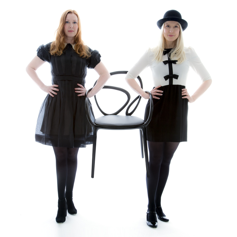 Front's Anna Lindgren and Sofia Lagerkvist with their Loop chair for Qeeboo