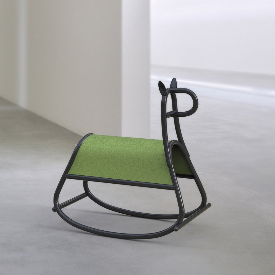 Furia rocking horse by Front, designed for Gebruder Thonet Vienna's Milan 2016 show