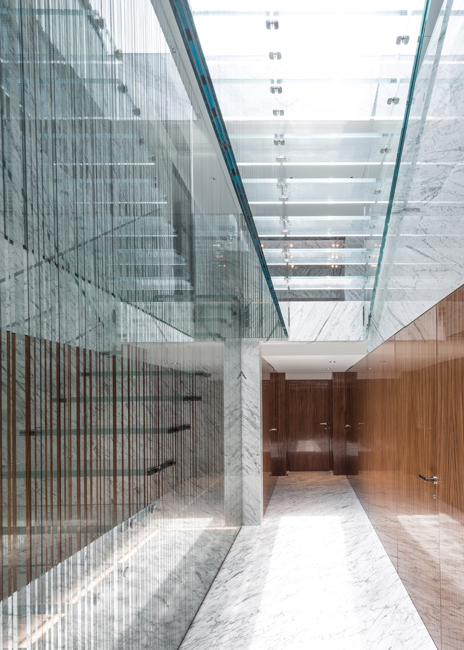 Glass stair and skylight by Carpenter Lowings interior Hong Kong, China