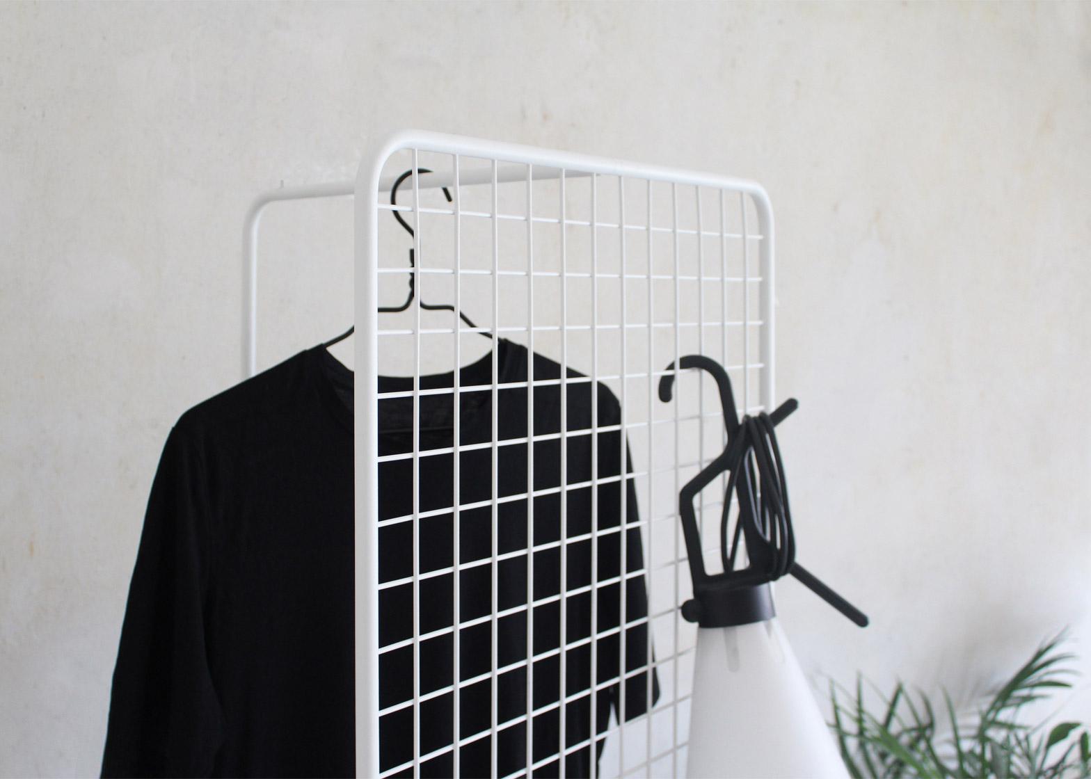Grid clothing rail by Thomas Schnur for Milan 2016