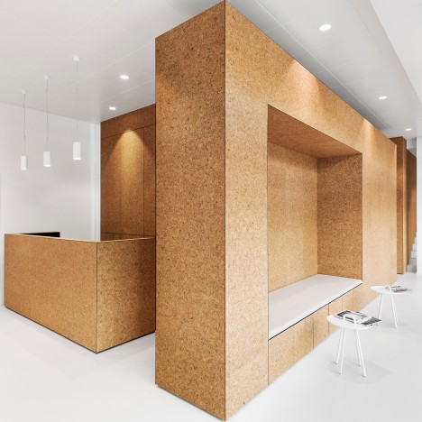 Dost converts 1960s restaurant into heart clinic with cork cubicles