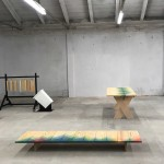 Raw Edges unveils wooden furniture featuring rainbow-hued zigzag patterns