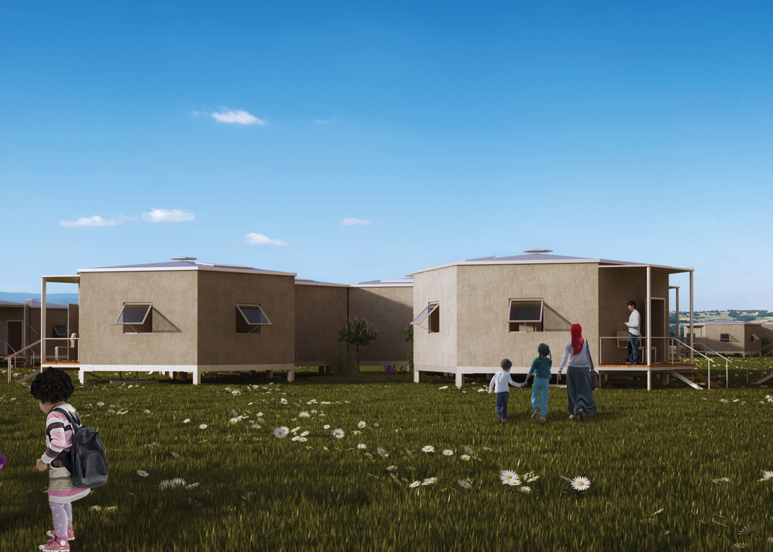 2 Of 5; Hex House By Architects For Society Refugee Crisis Housing Architecture  News