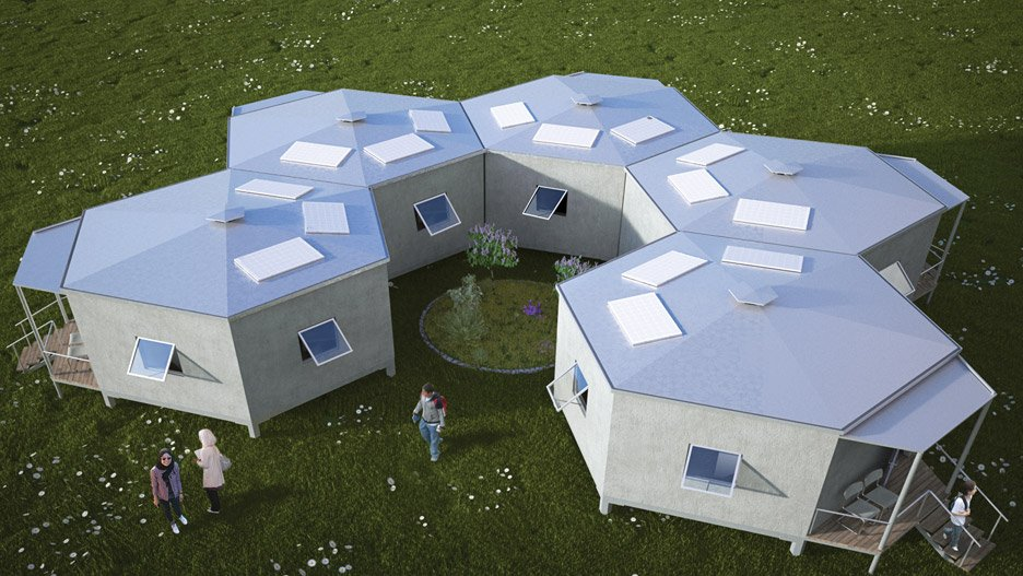 Attrayant Architects For Society Creates Low Cost Hexagon Refugee Houses