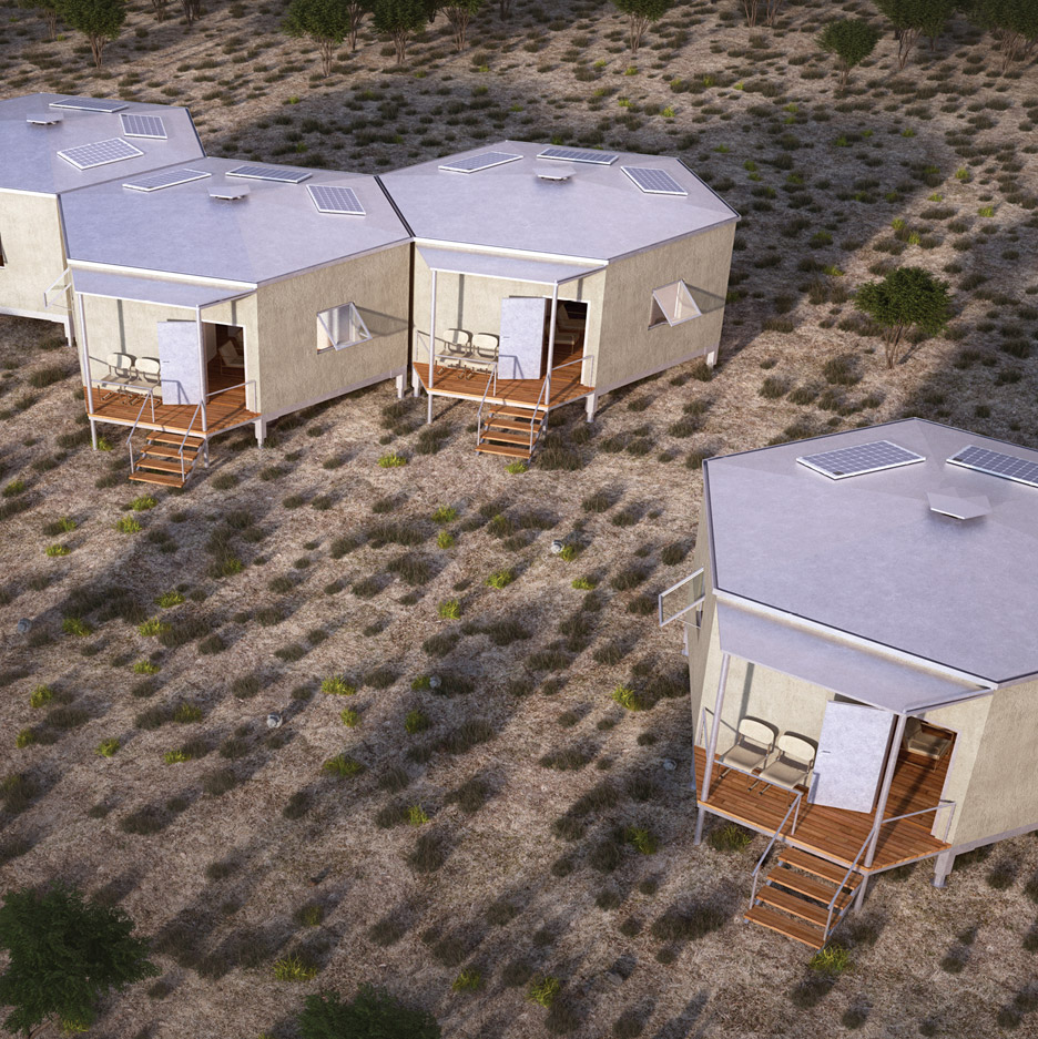 Home Design Ideas In Low Cost: Architects For Society Designs Low-cost Hexagonal Shelters