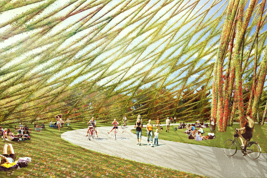 Geodesic Dome on Ile Sainte Helene in Montreal Canada public architecture
