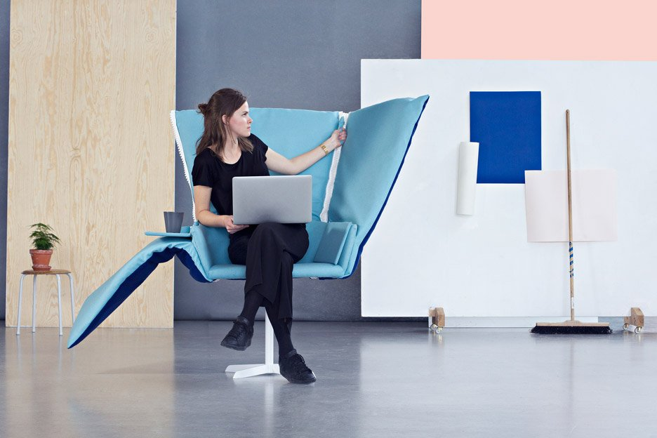 Rolf Hay and Lund University students design alternatives to corporate office furniture