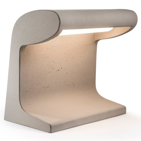Nemo reissues cement lamp designed by Le Corbusier