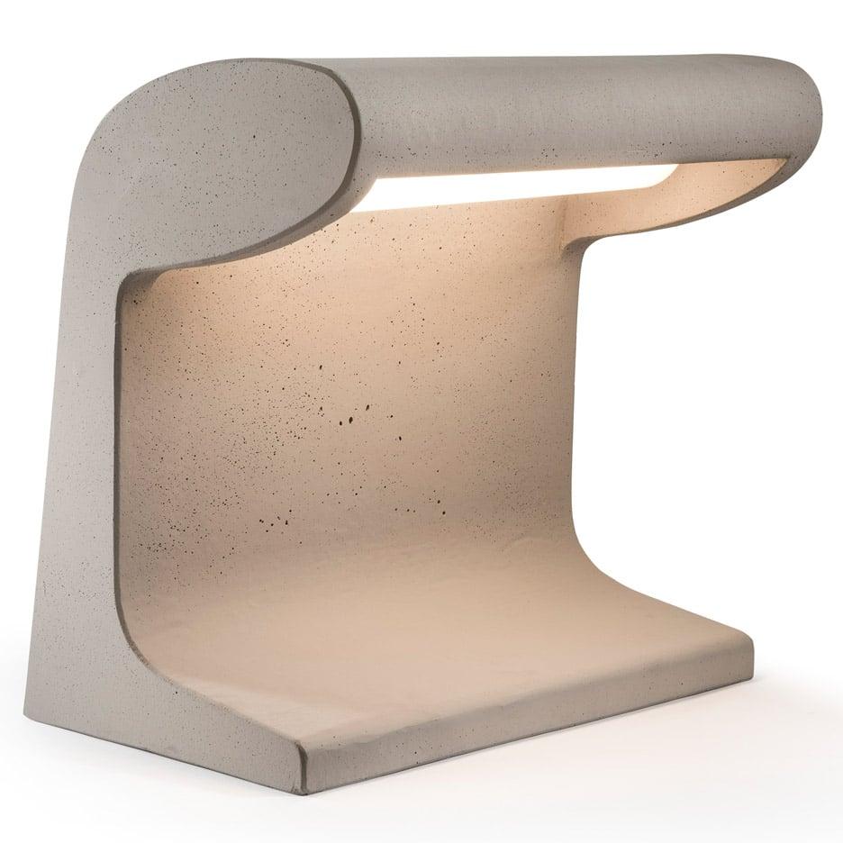 Nemo reissues cement lamp designed by Le Corbusier