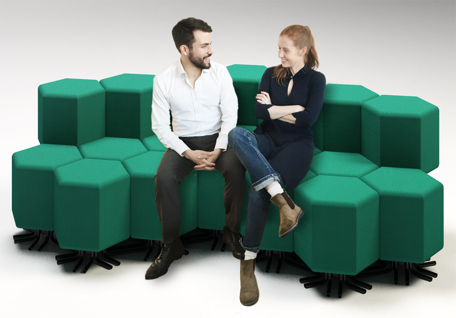 Lift-bit sofa by Carlo Ratti