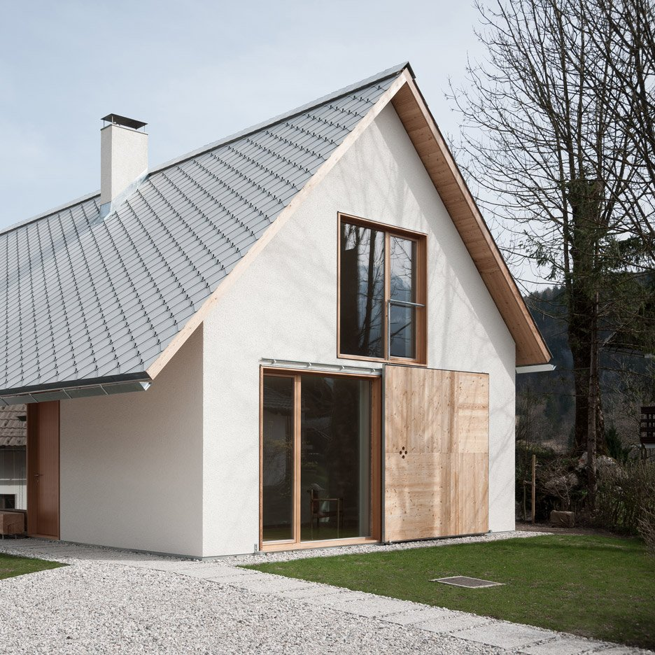Skupaj Arhitekti couples traditional form with contemporary materials for Alpine home