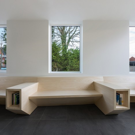 Joshua Florquin uses angular joinery to create bespoke furnishings for doctor's surgery