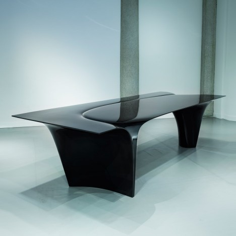 Zaha Hadid's Mew table is her last piece of furniture design for Sawaya & Moroni